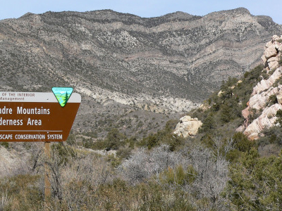 Sign For Wilderness Area