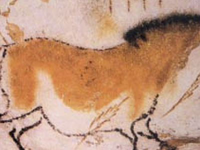 Cave Painting Of A Dun Horse At Lascaux