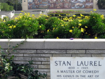 Stan Laurel\'s Memorial Marker