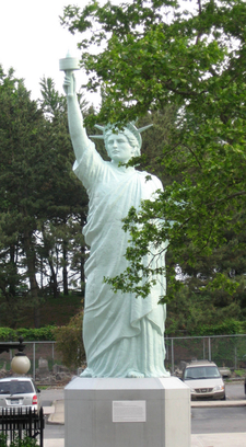 Replica Of The Statue Of Liberty In Back Lot