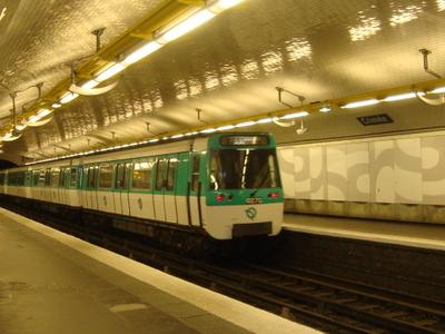 MF 77 Rolling Stock On Line 7 At Crimée