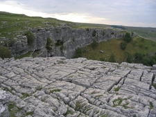 Limestone Pavement Above Malham Cove