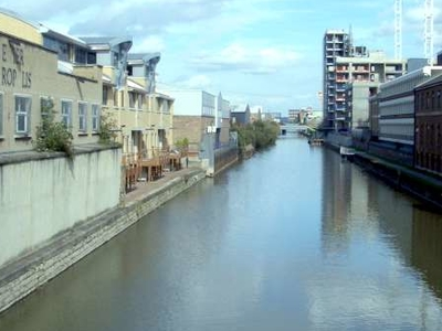Looking North East Along The Limehouse Cut