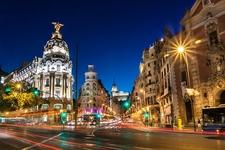 Madrid Gran Via Street