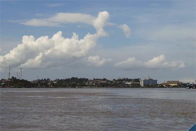 Mahakam River At Samarinda