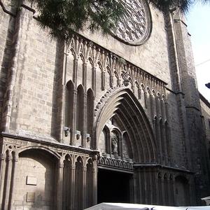 Main Facade Of Santa Maria Del Pi