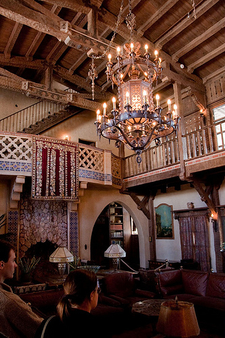 Main Hall View Inside Scotty's Castle