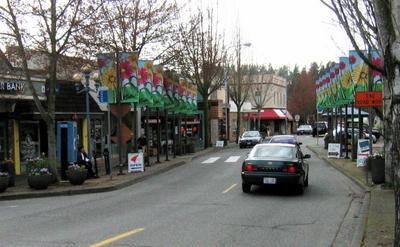 Main Street In Bothell Washington