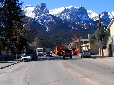 Mainstreet Canmore Alberta
