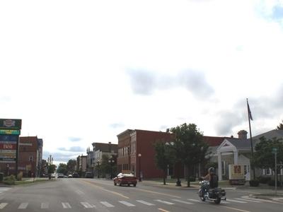Main Street Facing East.