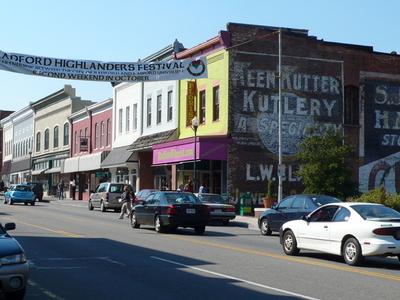 Main Street In Radford Virginia.