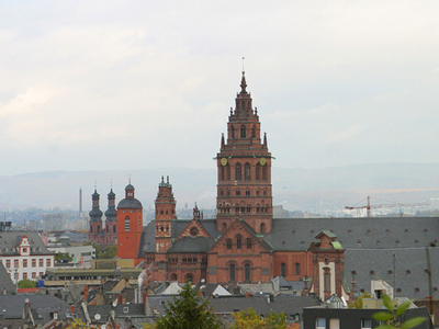 Mainz Old Town View From The Citadel