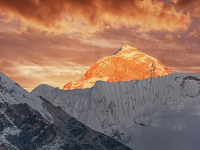 Makalu Peak At Sunset - Nepal Himalayas