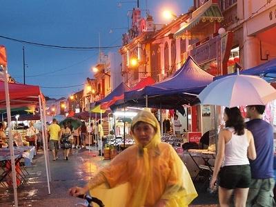Malacca Market & Rains