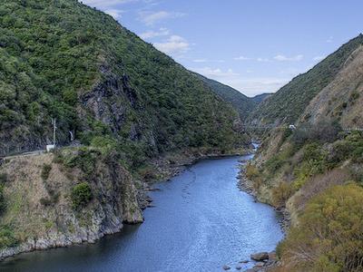 Manawatu Gorge Scenic View - North Island - New Zealand