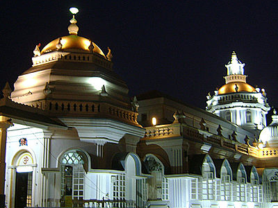 Mangeshi Temple - Night View