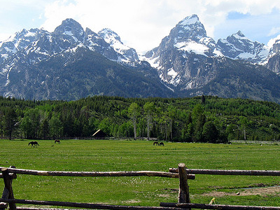 Manges Homestead - Grand Tetons - Wyoming - USA