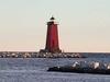 Manistique  Harbor  Light In  Manistique   Michigan
