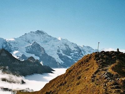 Mannlichen Looking Towards Eiger