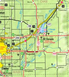 Map Of Butler Co 2 C Ks 2 C U S A