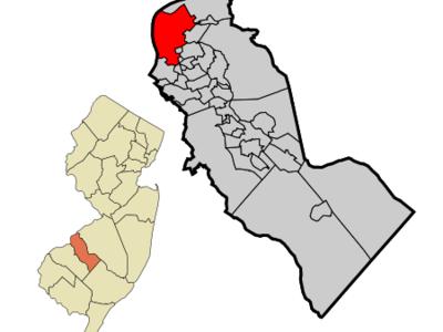 Map Of Camden In Camden County. Inset Location Of Camden County