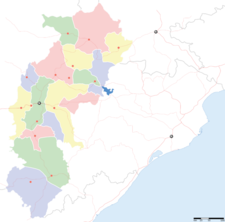 Map Of Chhattisgarhshowing Location Of Dhamtari