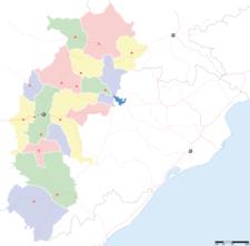 Map Of Chhattisgarhshowing Location Of Rajnandgaon