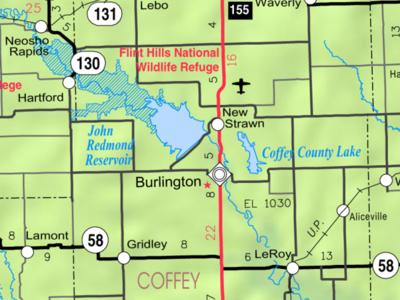 Map Of  Coffey