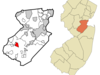 Map Of Dayton Cdp In Middlesex County