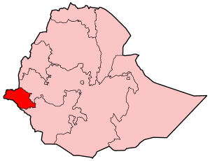 Map Of Ethiopia Showing Gambela Region
