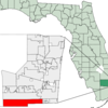 Map Of Florida Highlighting Miramar