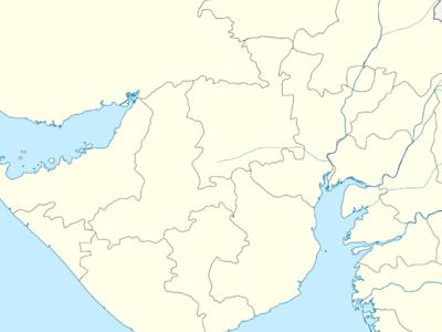 Map Of Gujaratshowing Location Of Katargam