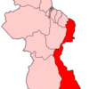 Map Of Guyana Showing East Berbice Corentyne Region