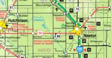 Map Of Harvey County Kansas