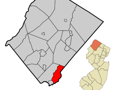 Map Of Hopatcong Borough In Sussex County.