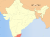 Map Of India Showing Location Of Tamil Nadu