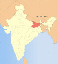 Map Of India Showing Location Of Bihar