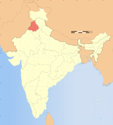 Map Of India Showing Location Of Punjab