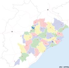 Map Of Orissashowing Location Of Dhenkanal