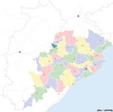 Map Of Orissashowing Location Of Rairangpur