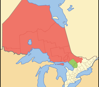 Map Of  Ontario  N O R T H E R N