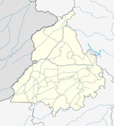 Map Of Punjabshowing Location Of Faridkot