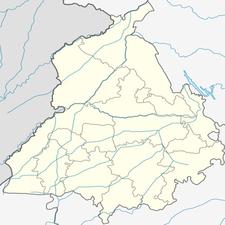 Map Of Punjab Showing Location Of Moga