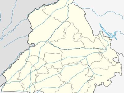 Map Of Punjab Showing Location Of Mullanpur