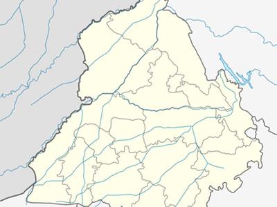 Map Of Punjabshowing Location Of Sangrur