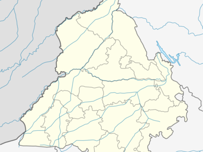 Map Of Punjabshowing Location Of Nangakl