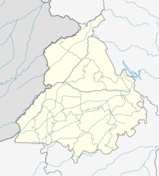 Map Of Punjabshowing Location Of Pathankot
