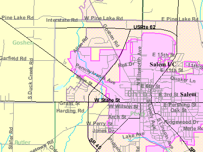 Map Of Salem Ohio Showing Municipal Boundaries
