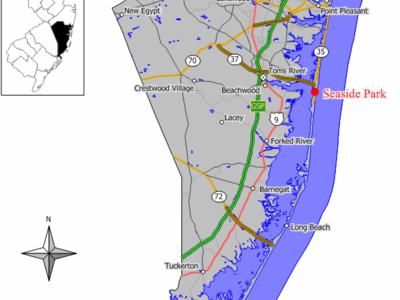Map Of Seaside Park
