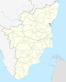 Map Of Tamil Nadushowing Location Of Erode